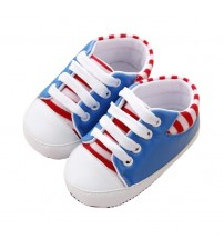Baby Striped PU Shoes