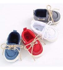 Baby Soft Soled Crib Shoes Laces Up