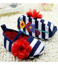 Baby Flower Ruffled Shoes Soft Bottom