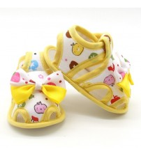 Baby Bow-knot Printed Breathable Shoes