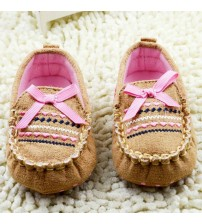 Baby First Walkers Soft Cotton Bow-knot Shoes