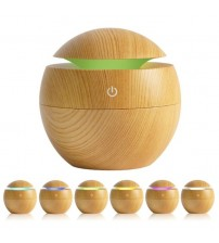 Cool Mist Humidifier 130ml Wood Grain Usb