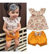 Baby Girl Clothes T-shirt Tops+Pants