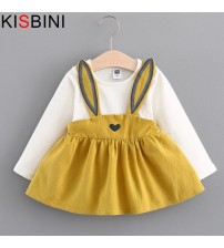 Baby Dress Long Sleeve Cute Rabbit Style
