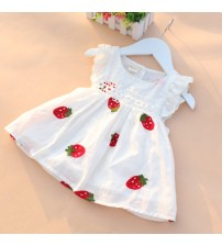 Baby Girl Embroidery Flower Cotton Dress