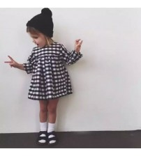 Baby Girl Dress Casual Plaid