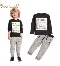Boy Clothes Long Sleeve T-shirt+Casual Long Pants