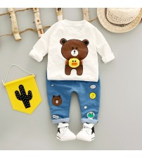 Boys Clothing Set Cotton O-Neck Full Sleeve
