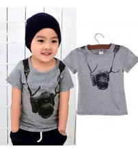 Boys Clothes Casual 3D Camera Tops T-Shirts