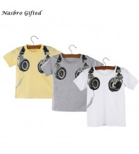 Boy Casual Headphone Short Sleeve Tops