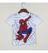 Boy's T Shirt Cartoon Hero Cotton Short-Sleeved