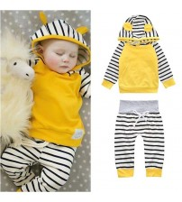 Baby Jogger Outfits Stripe Hoodie & Leggings Set