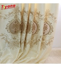 Modern Fancy Embroidered European Curtains