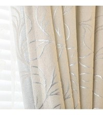 New Leaves Chenille Jacquard Blinds Curtain