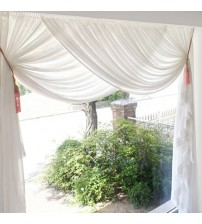 Cheap Soft Pure White Tulle Curtains