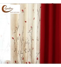 Faux Cotton Linen Quality Stitching Curtain