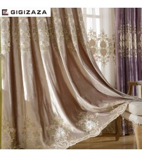 Luxury Velvet Embroidery Curtains Heavy Fabric