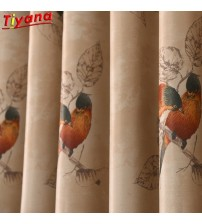Colorful Bird Blackout Curtains