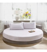 100% Cotton Round Fitted Sheet Set Round Bed Sheet