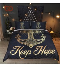 Anchor Duvet Cover Set With Pillowcase Retro Bedding Set