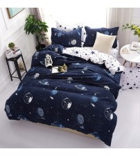 3D Bedding Sets Star Galaxy Duvet Cover Blue White