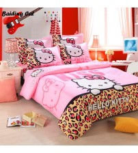 Brand Logo Hello Kitty Bedding Set