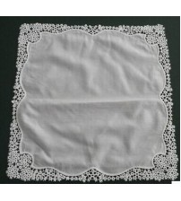 Computer Embroidery Lace Handkerchief