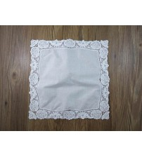 Embroidered Lady Lace Handkerchief