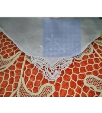 Handmade Embroidered Lace Handkerchief