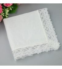High Quality Polyster Lace Lady Handkerchief
