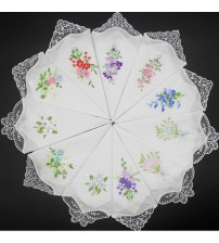 Embroidery Lace handkerchief Cotton