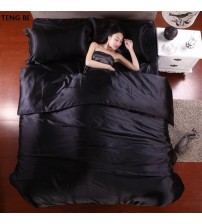 100% Pure Satin Silk Home Bed Set