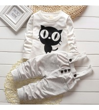 Baby Boy Clothes Long T-Shirt + Overalls Pants