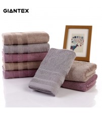 2pcs Soft Bamboo Fiber Face Towel For Adults