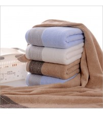 Adult White Towel Embroidered Rectangle For Bath