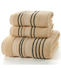 Solid Color Jacquard Sheared Thick Towels 140x70cm