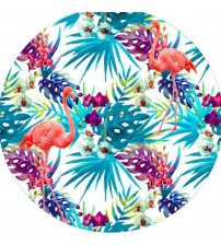 Colorful Floral Brids Printn Round Beach Towel 150cm