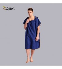 Absorbent Microfiber Changing Poncho Multicolor Hooded Towel 91*109cm