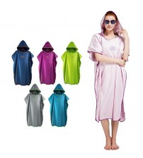Absorbent Microfiber Changing Poncho Mulitcolor Hooded Towel