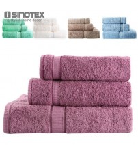 3 PCS/lot Towel Set 100% Cotton Spiral Satin Solid Towel