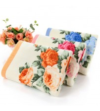 3PCS*LOT Flower Printed Cotton Face Towel