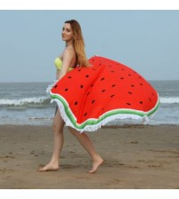 150cm Summer Large Pizza Watermelon Beach Towel Round