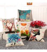 Digital Printing Flower Cushion Cover  Pillow Case