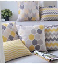 Almofadas Modern Nordic Decorative Plaid Cushion Cover