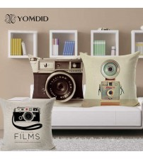 Camera Patterms Vintage Style Sofa Cushion Cover Pillow Case