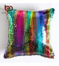 DIY Mermaid Sequin Cushion Cover Magical Pink Throw Pillowcase