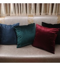 Comfortable Solid Colors Luxury Velvet Cushion Cover