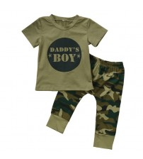 Baby Camo T-shirt Tops Pants Outfits Set
