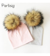 Baby Cap Cotton Pompom