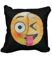 Cute Funny Emoji Throw Pillow
